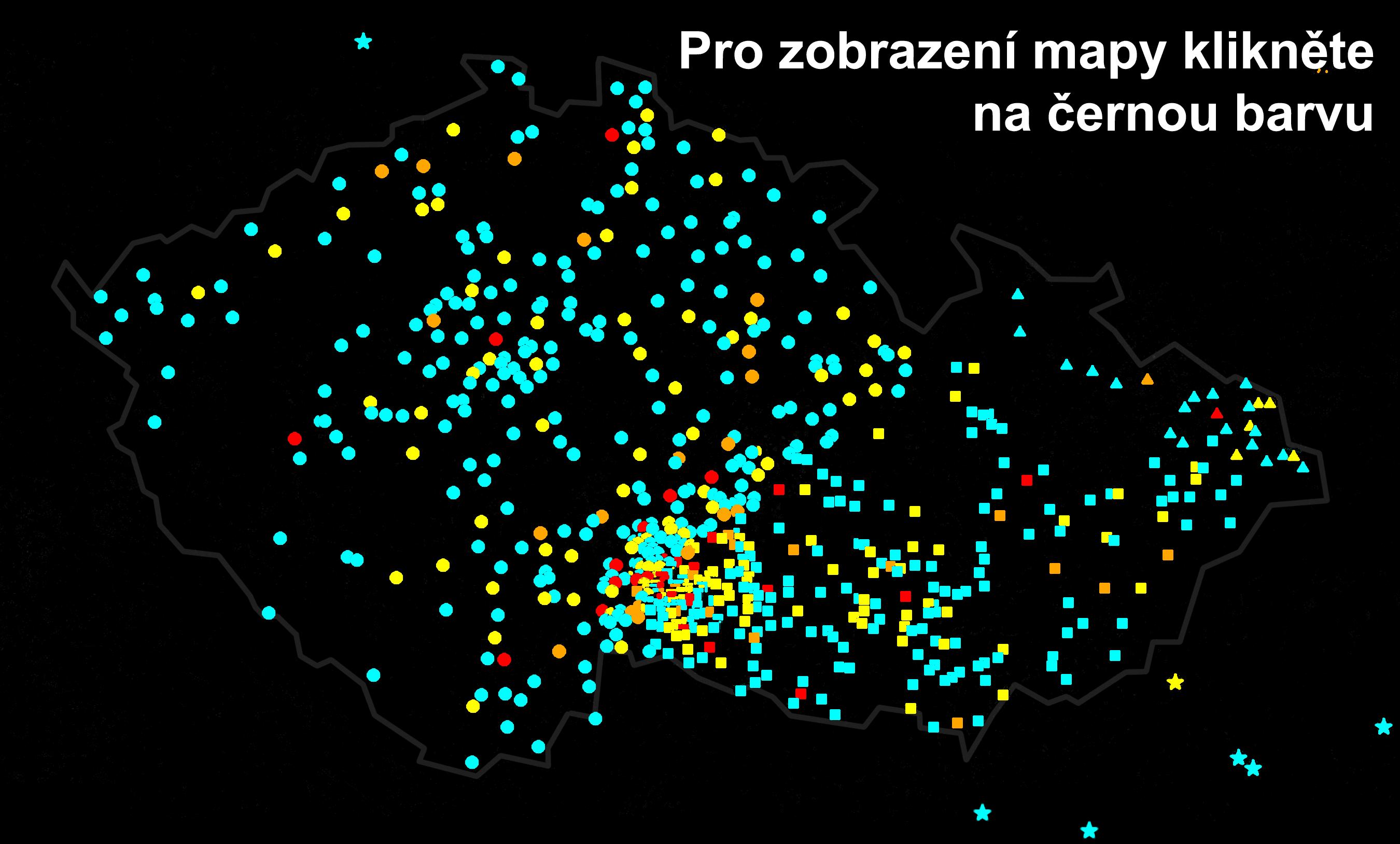 Mapa návštěv